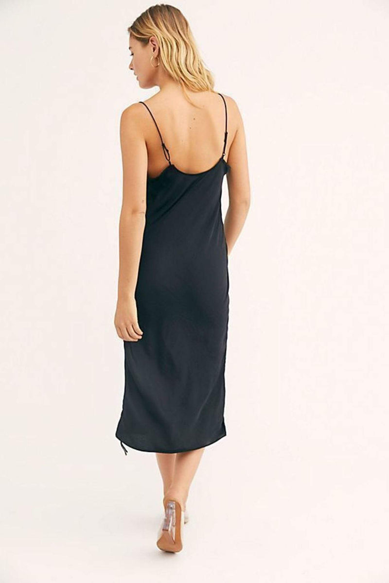 Free People Dress Day To Night Slip Black
