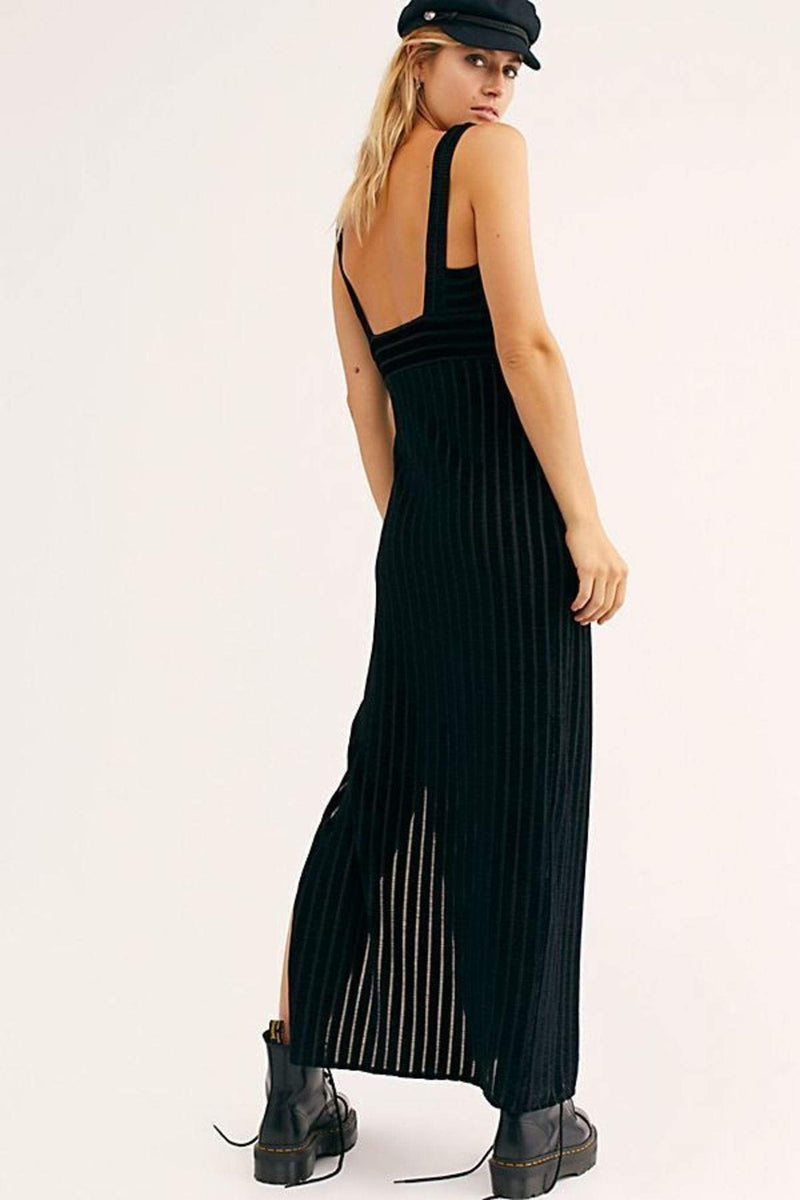Free People Dress Geneva Maxi Dress Black