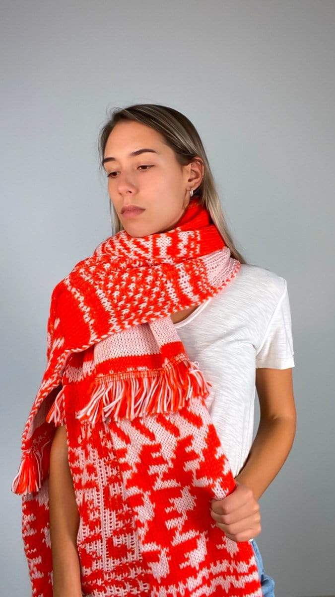 Free People Scarf One Size / Red / ACCFP8112 Mile High Fringe Scarf Red