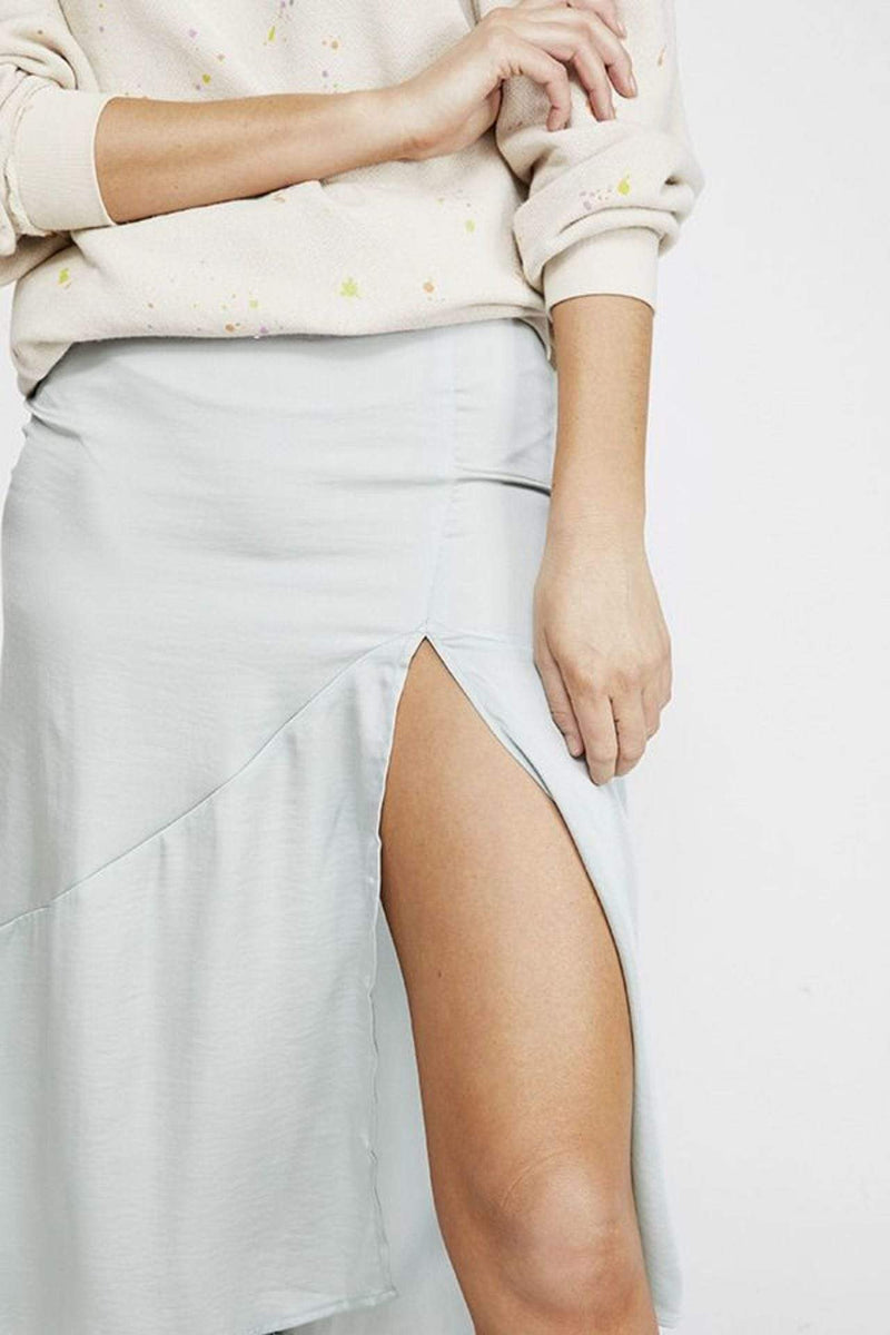 Lola Slit Skirt Ocean Blue