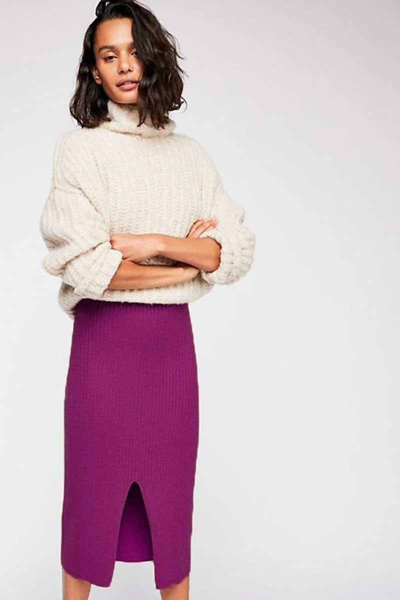 Skyline Midi Skirt Raspberry
