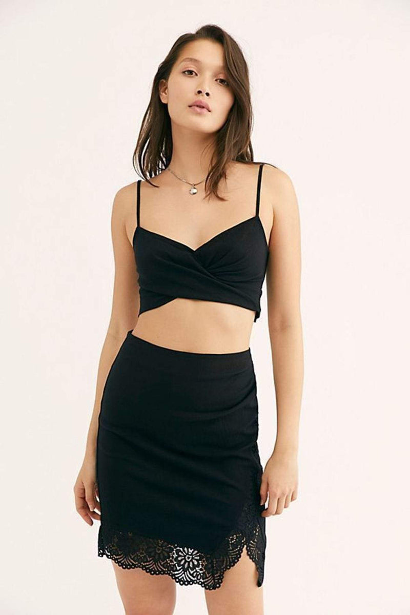 Free People Skirt Va Va Voom Skirt Black