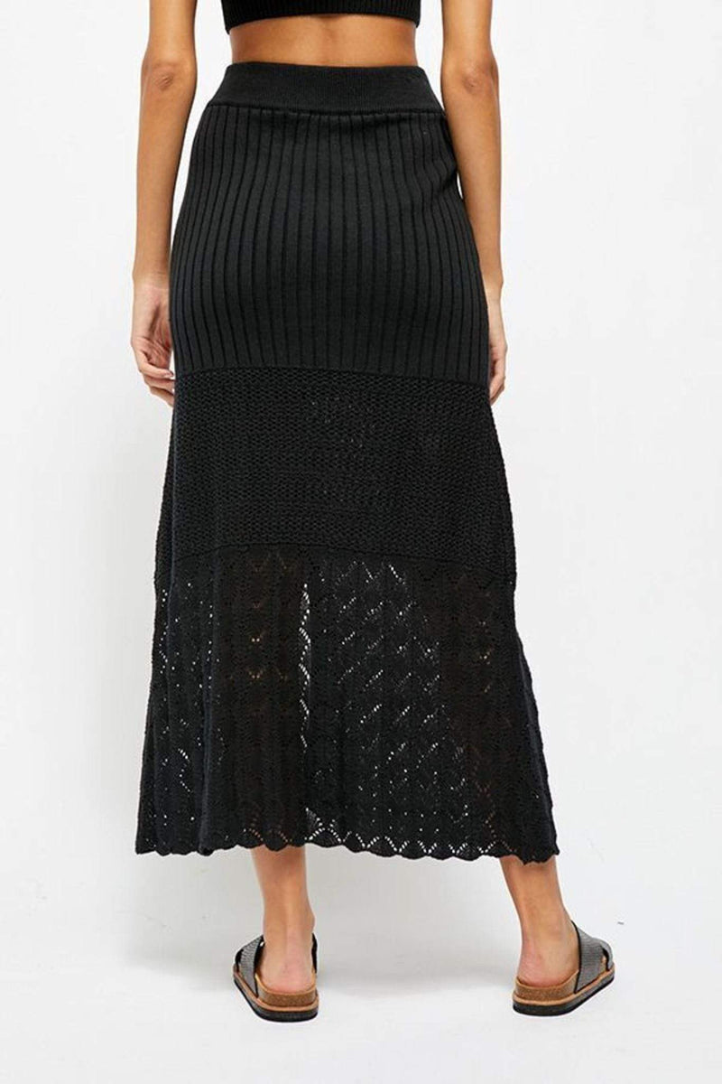 Free People Skirt X Small / Black / OB1090342 Bari Column Skirt Black
