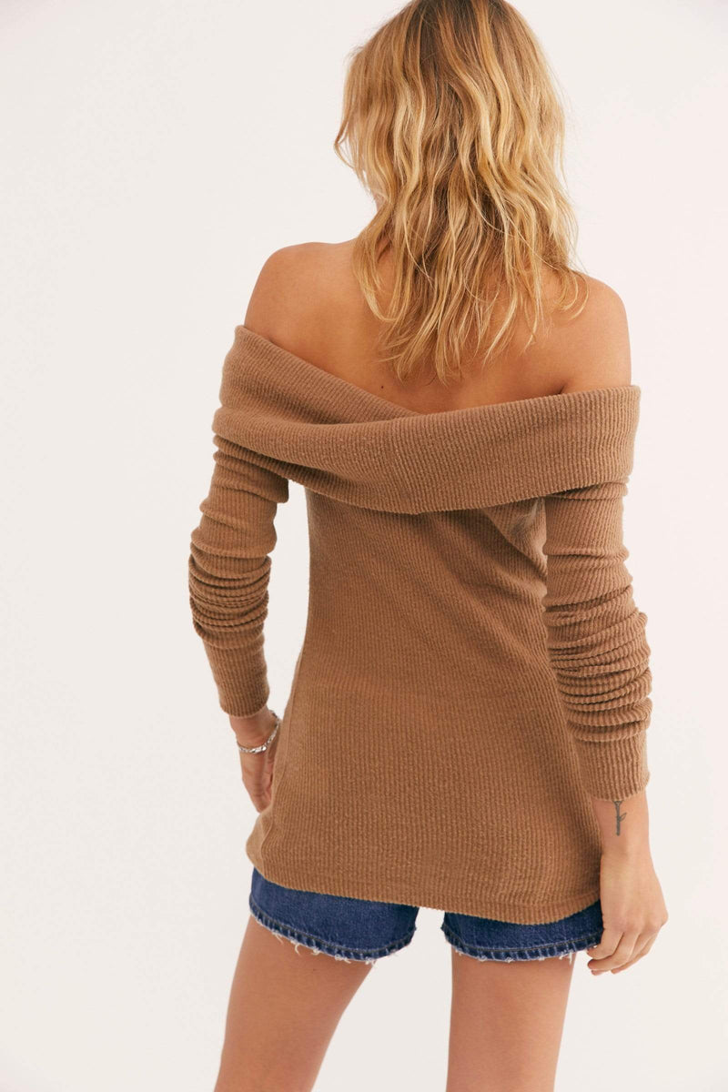 Free People Sweater Snowbunny Long Sleeve Vintage Bronze