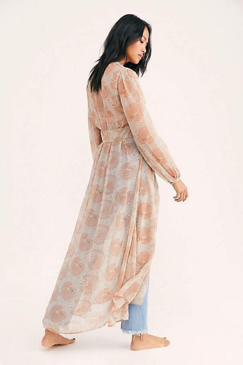 Free People Sweater Valerie Duster Neutral