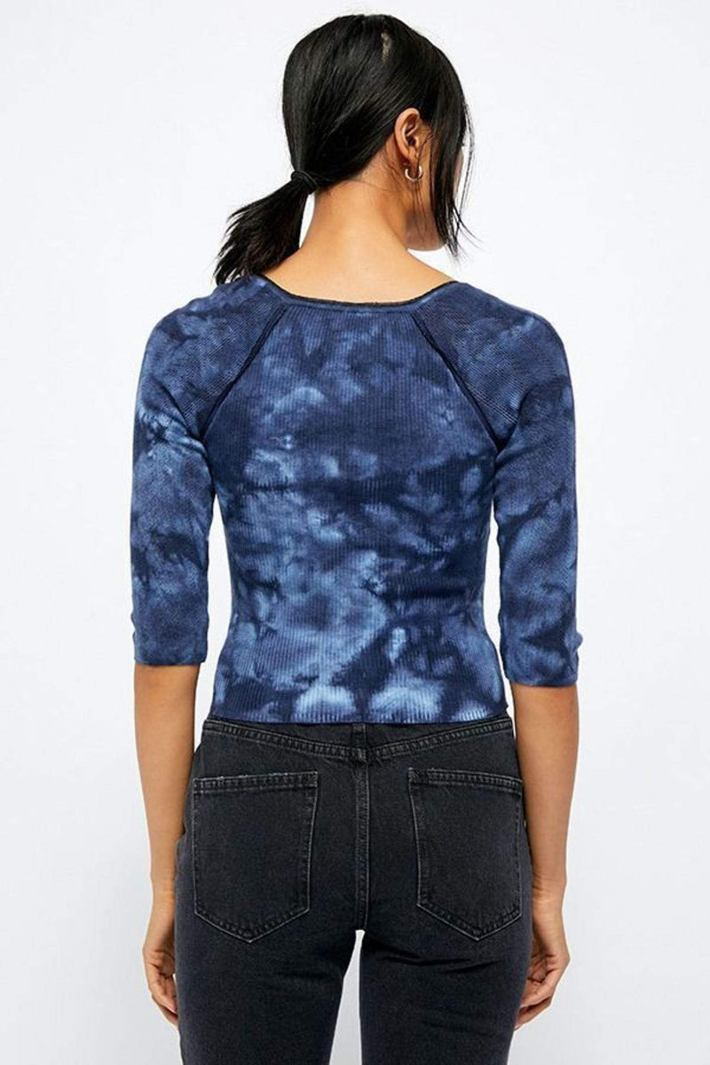 Free People Tee Casuals Rory Henley Top Navy
