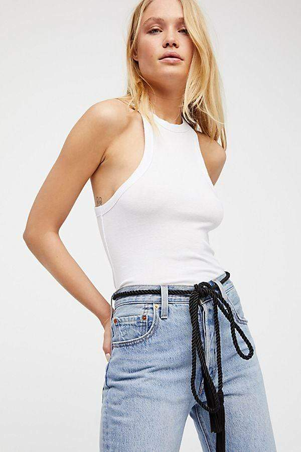 Free People Tee Casuals Wide Eyed Tank White