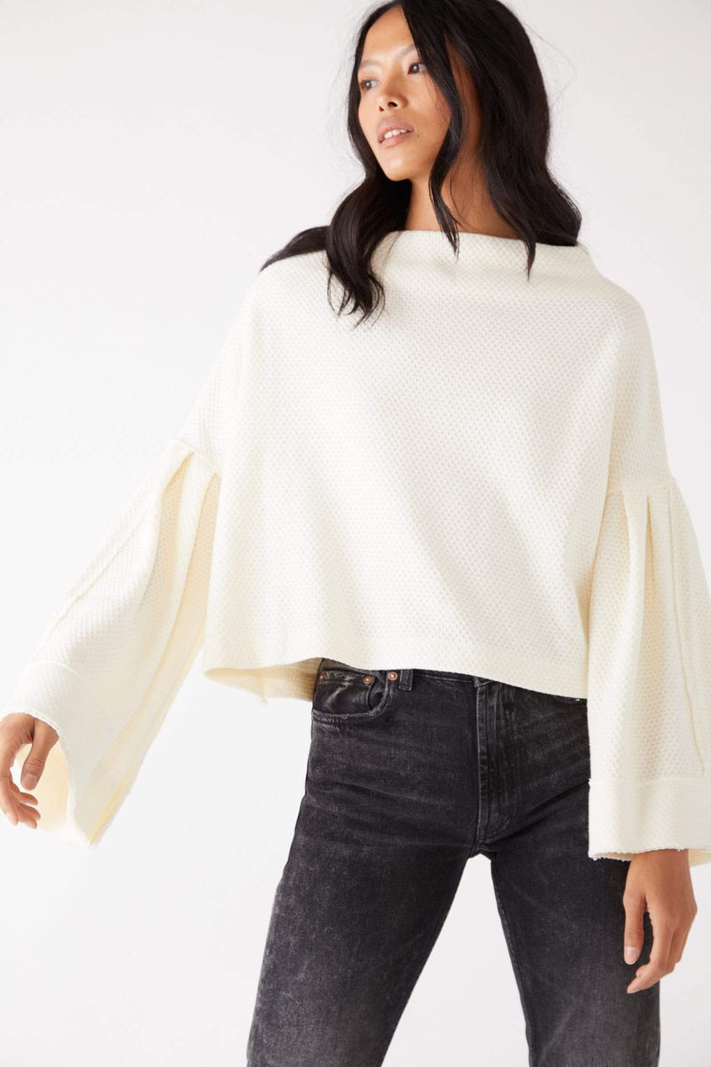 Free People Tops Blouse Bunny Tee Evening Cream