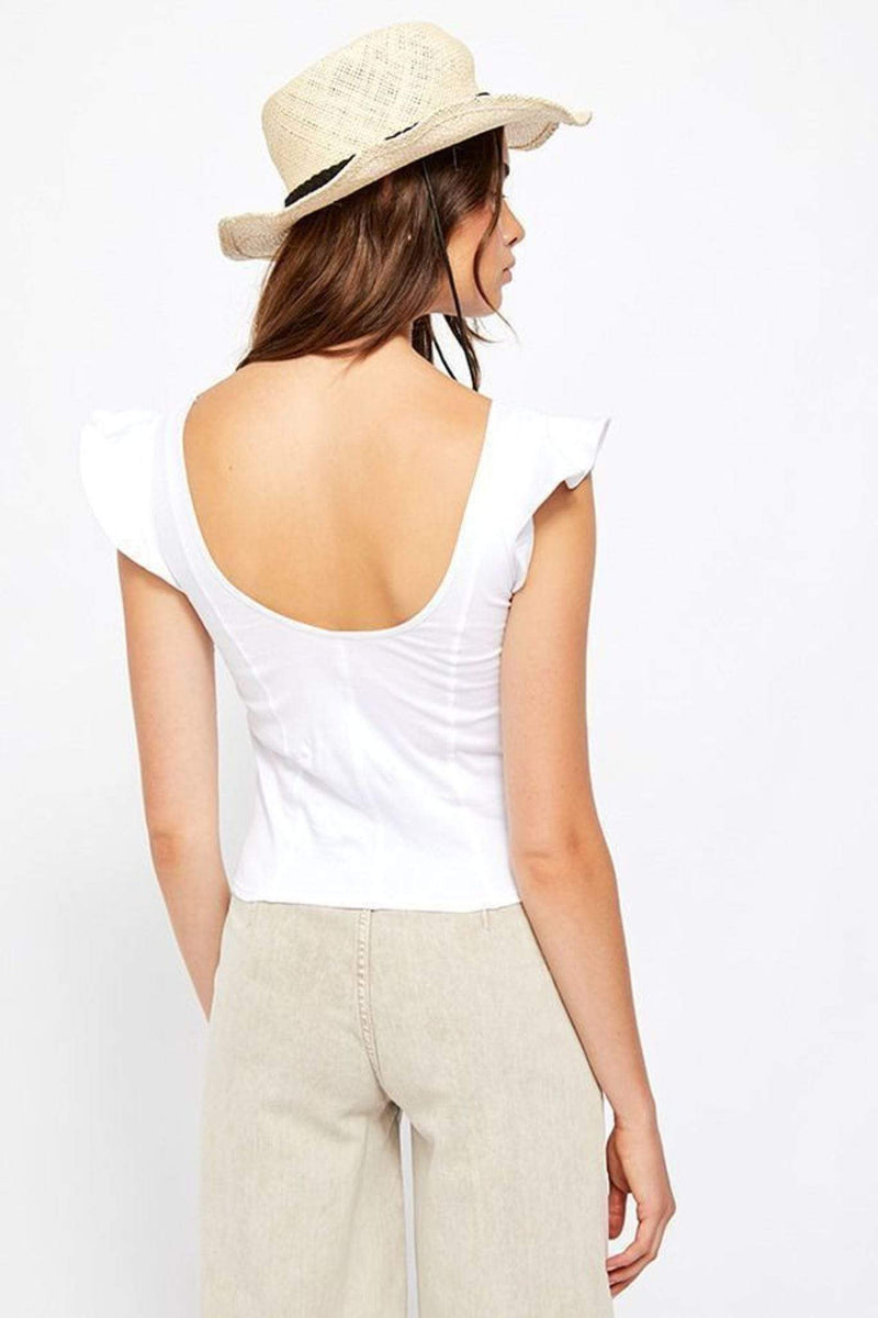 Free People Tops Blouse Fleur Tank Top White