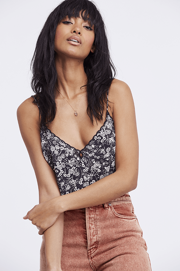 Free People Tops Blouse Kora Printed Cami Black Combo