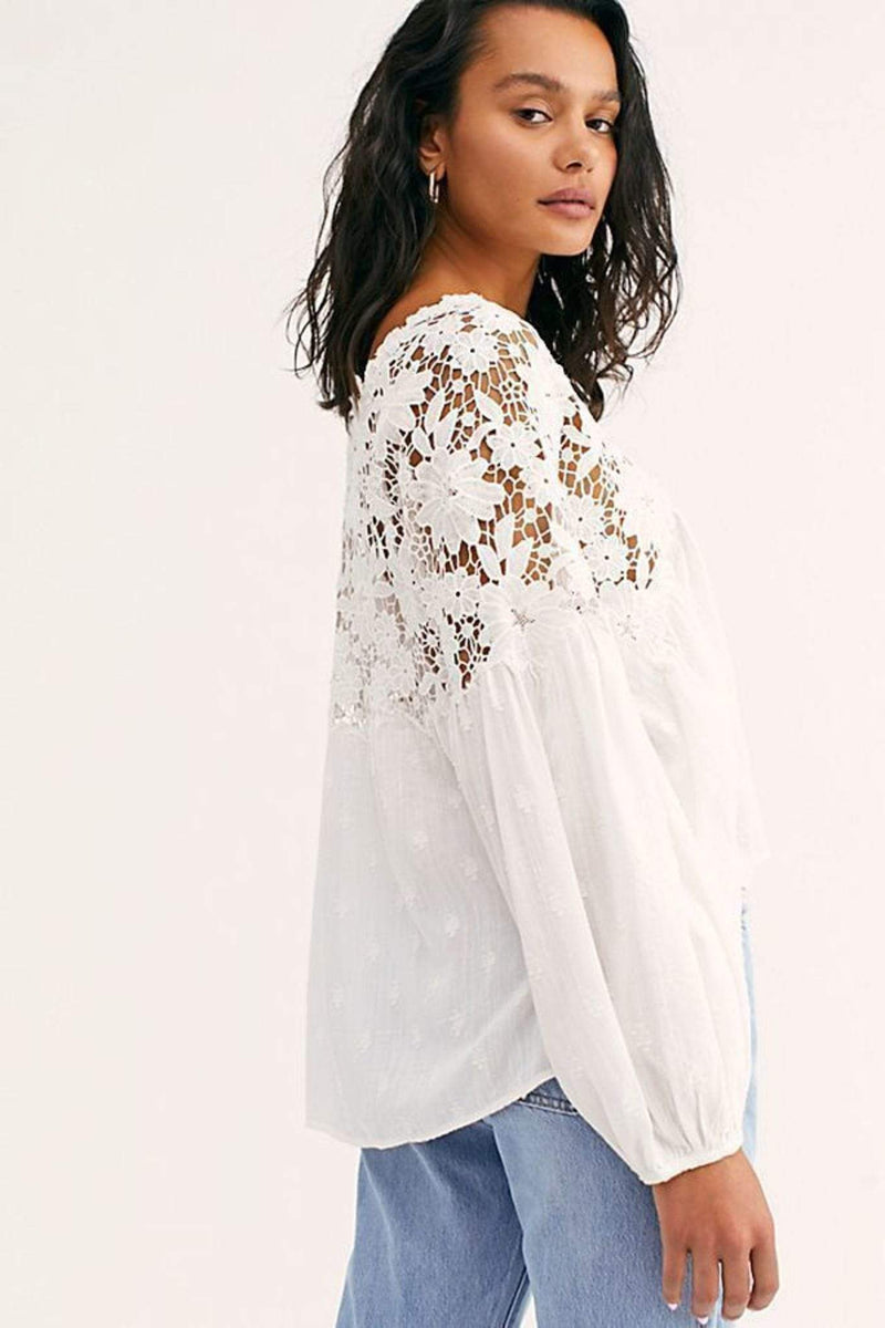 Lina Lace Top White