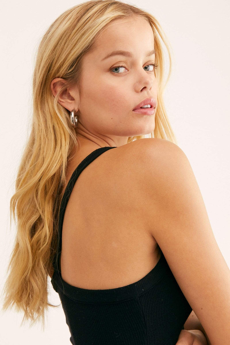 Free People Tops Blouse That Easy Tank Top Black