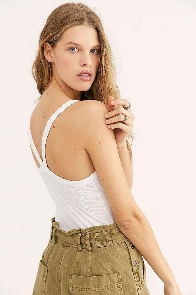 Free People Tops Blouse That Easy Tank Top Ivory