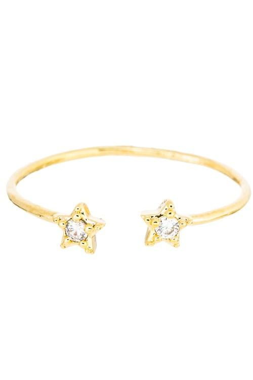 Girly Ring Double Pave Star Ring