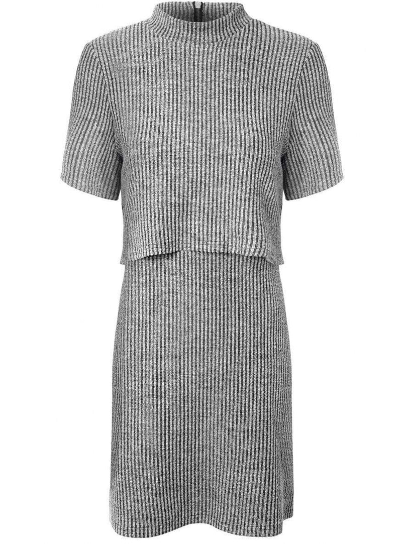 Glamorous Dress Ribbed Overlay Shift Dress
