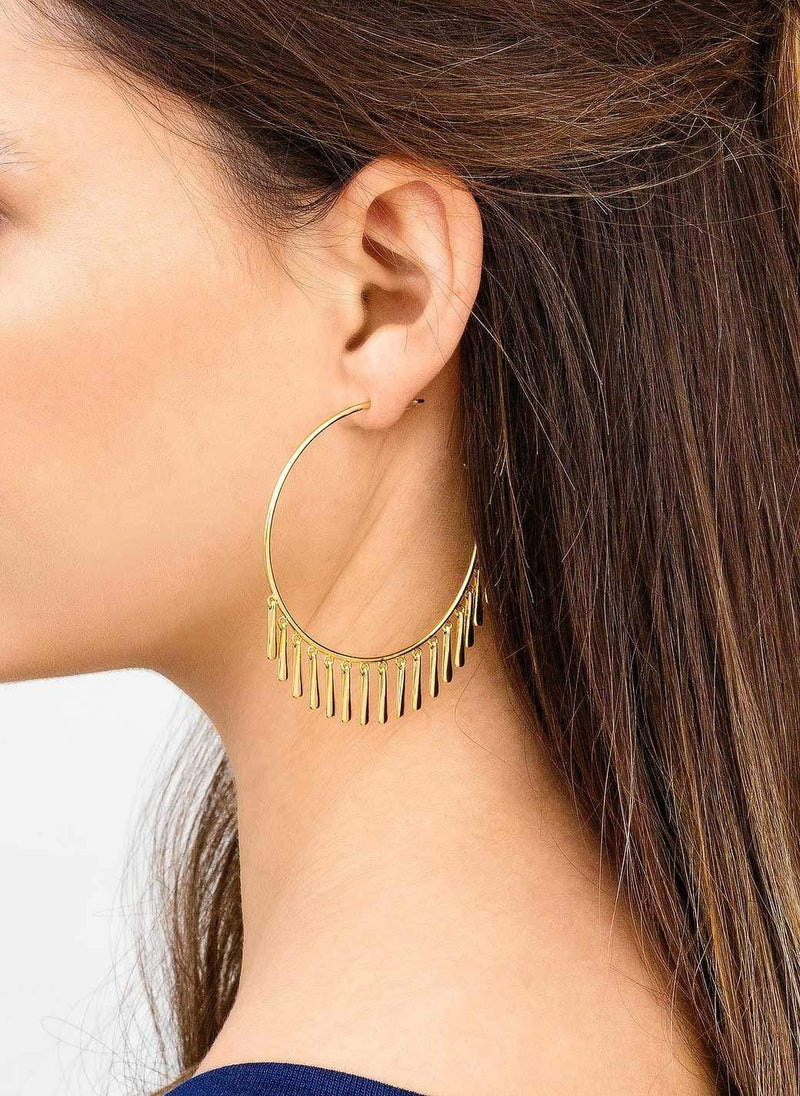 Gorjana Earring One Size / Gold / 175-002 Kona Hoops