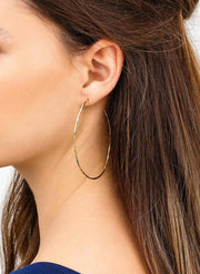 Gorjana Earring One Size / Gold / 176-002-G Harbour Oval Hoops Gold
