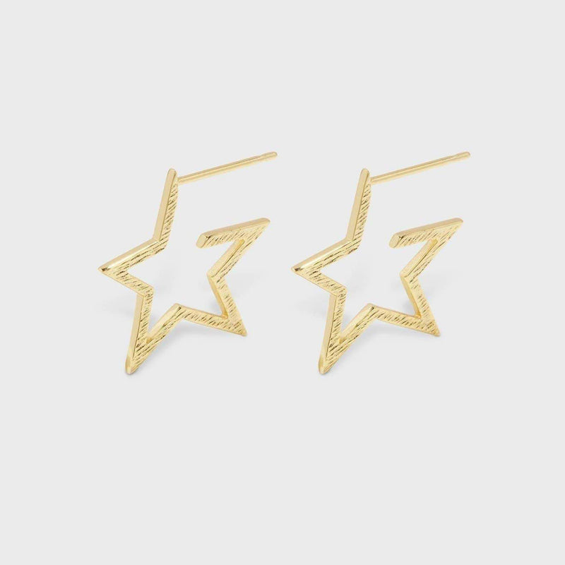 Super Star Small Hoops Gold