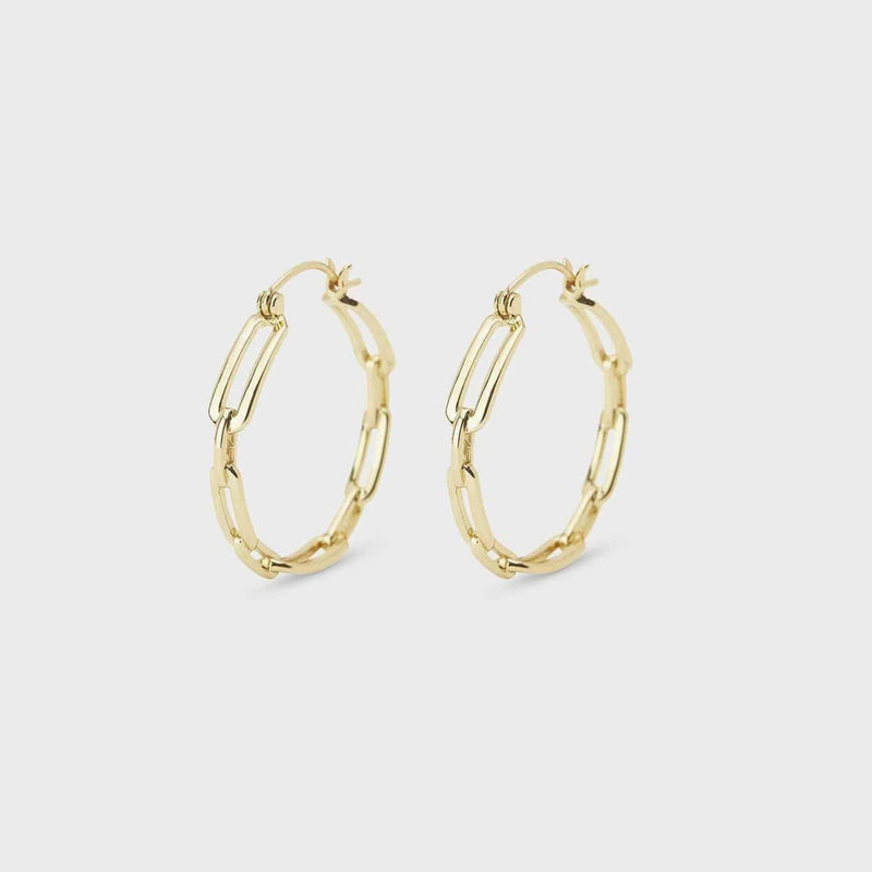 Gorjana Earring One Size / Gold / 202-035-G Parker Link Small Hoops Gold