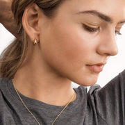 Gorjana Earring One Size / Gold / 203-001-G Farrah Huggies Gold