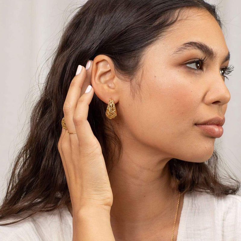 Gorjana Earring One Size / Gold / 205-021-G Tulum Statement Small Hoops Gold