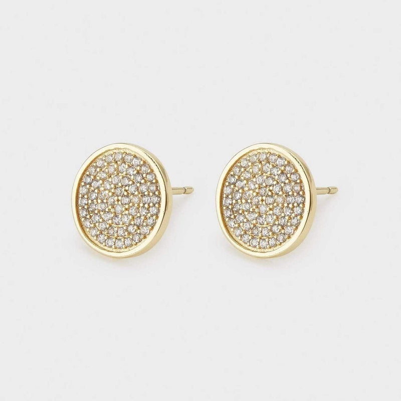 Gorjana Earring One Size / Gold / White CZ / 1912-005-02-G Pristine Large Studs Gold