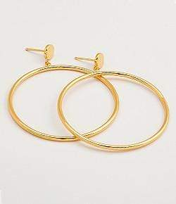 Gorjana Jewelry One Size / Gold / 171-003 Autumn Circle Drop Hoop