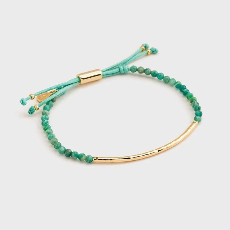 Gorjana Jewelry One Size / Russian Amazonite Gold / 1510-205-127-G-PKG Power Gemstone Bracelet Communicate Russian Amazonite Gold
