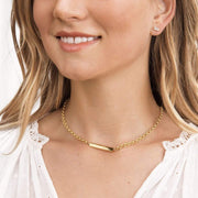 Gorjana Necklace One Size / Gold / 1911-127-G Lou Tag Necklace Gold