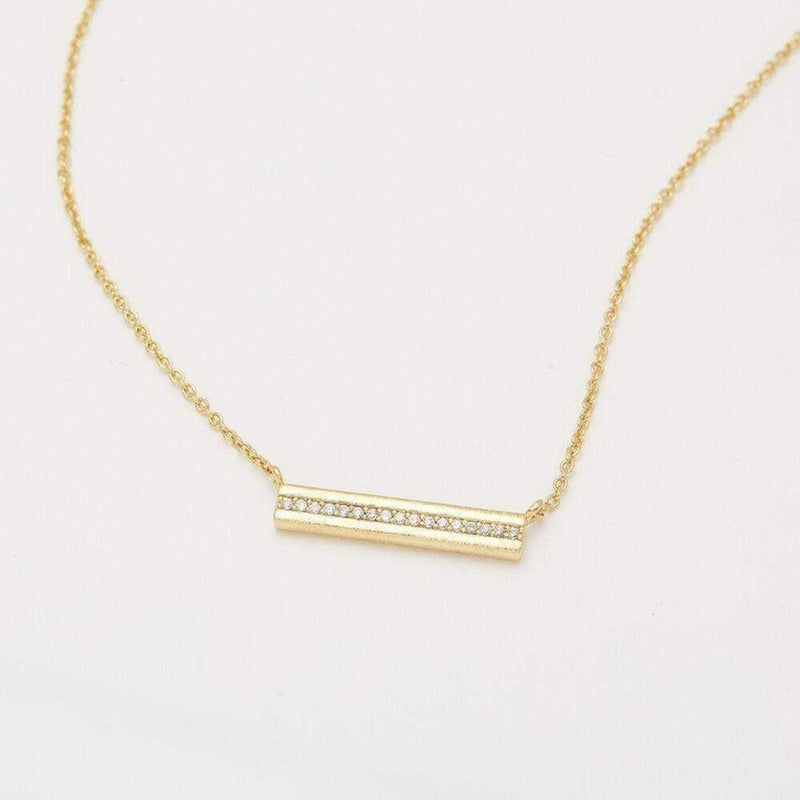 Gorjana Necklace One Size / Gold / 196-112-02-G Nia Shimmer Bar Necklace Gold
