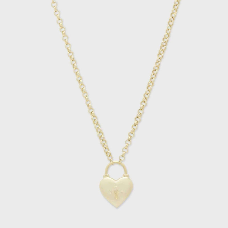 Kara Heart Padlock Necklace Gold