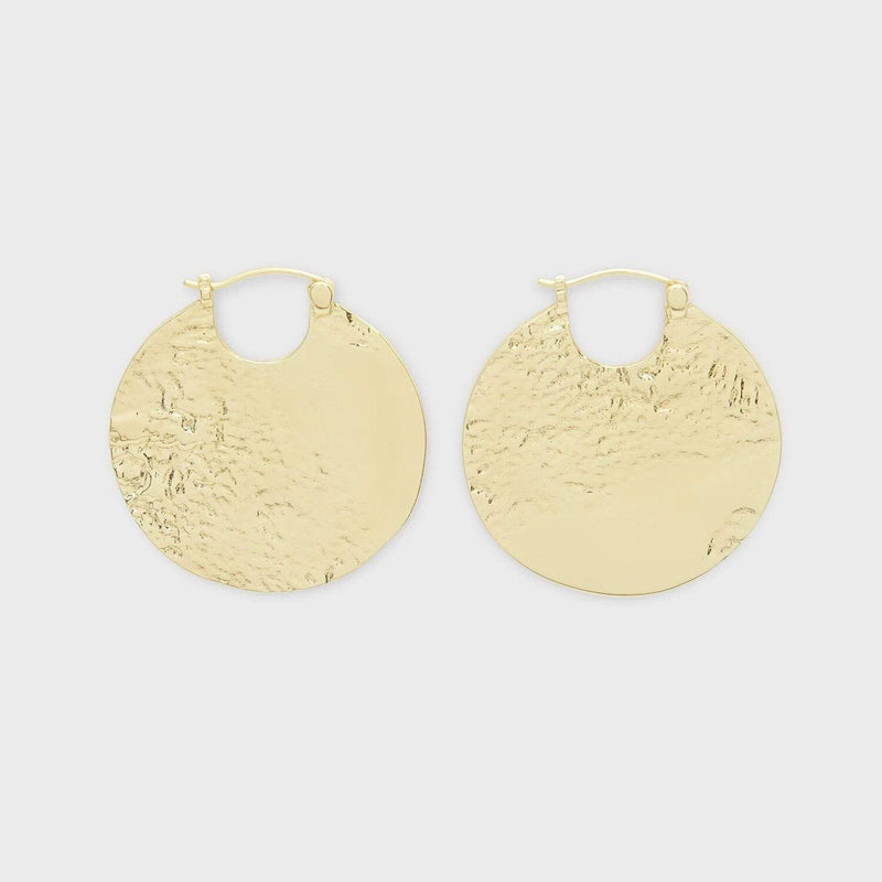 Gorjana Necklace One Size / Gold / 204-006-G Banks Profile  Huggies Gold