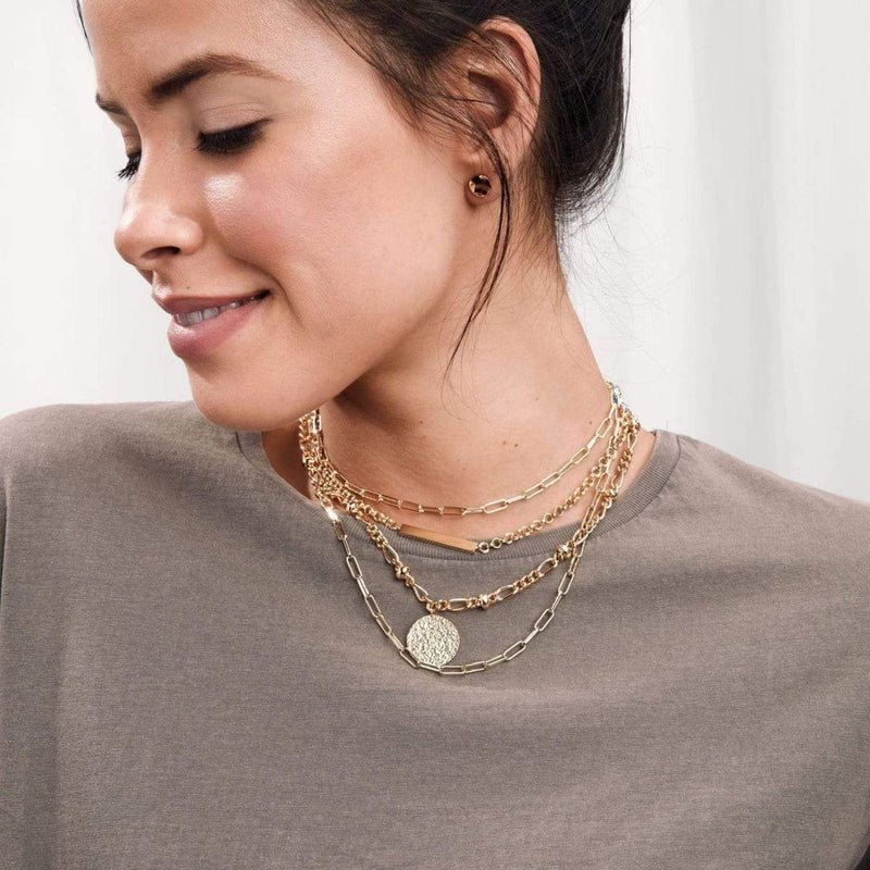 Banks Coin Necklace Gold