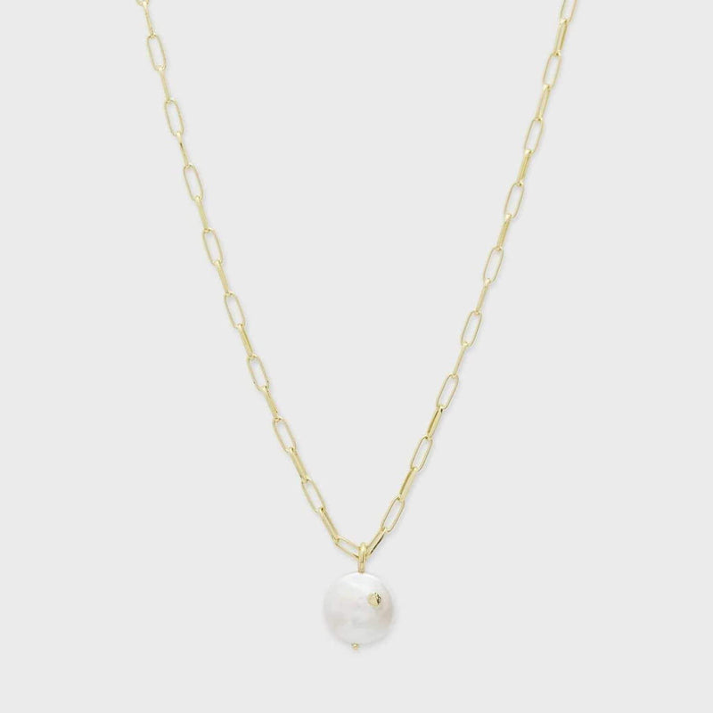 Gorjana Necklace One Size / Gold/ Pearl / 203-112-186-G Reese Pearl Necklace Gold/Pearl