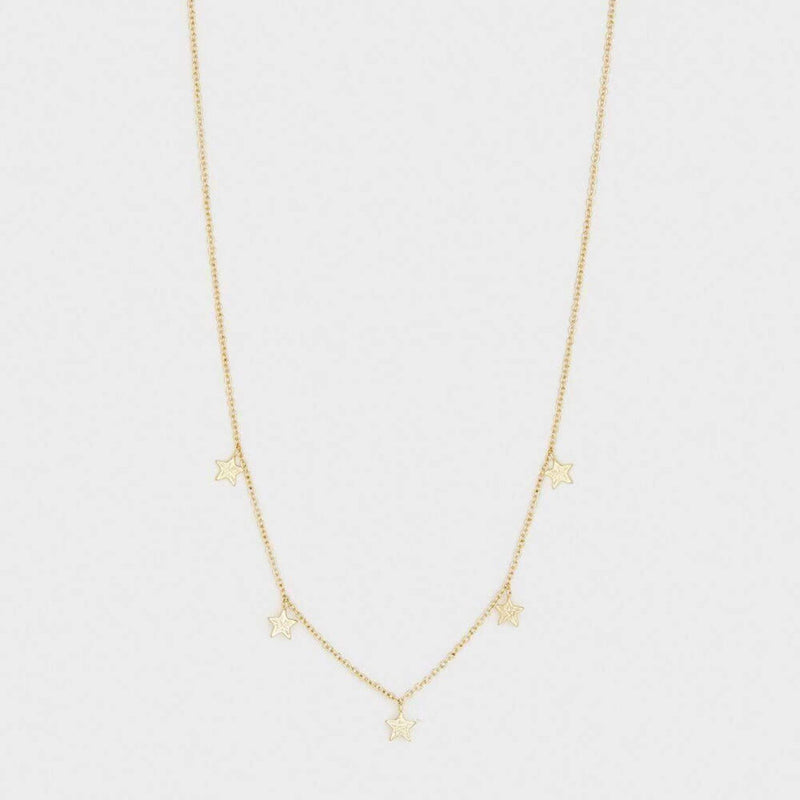 Super Star Flutter Necklace Gold