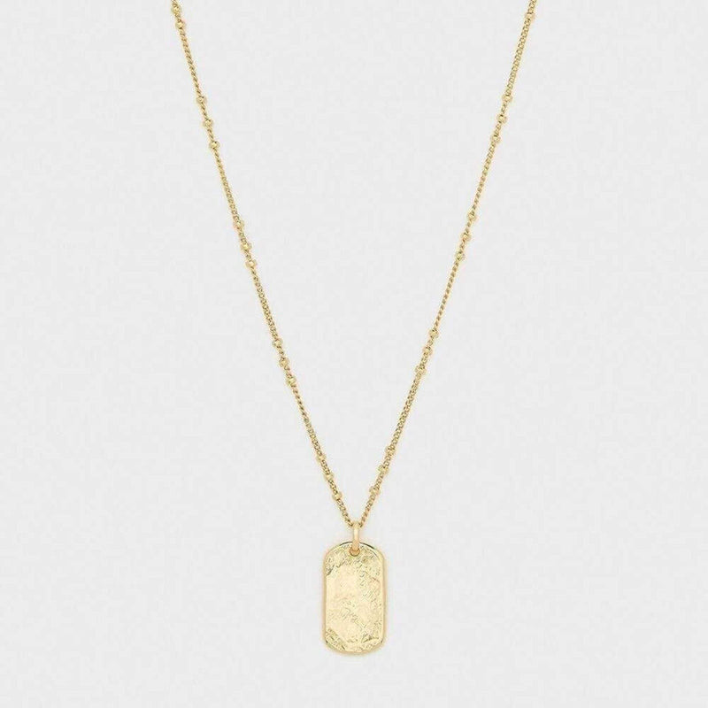 Gorjana Necklace One Size / Mother of Pearl/Gold / 196-106-G Griffin Dog Tag Necklace Mother of Pearl/Gold