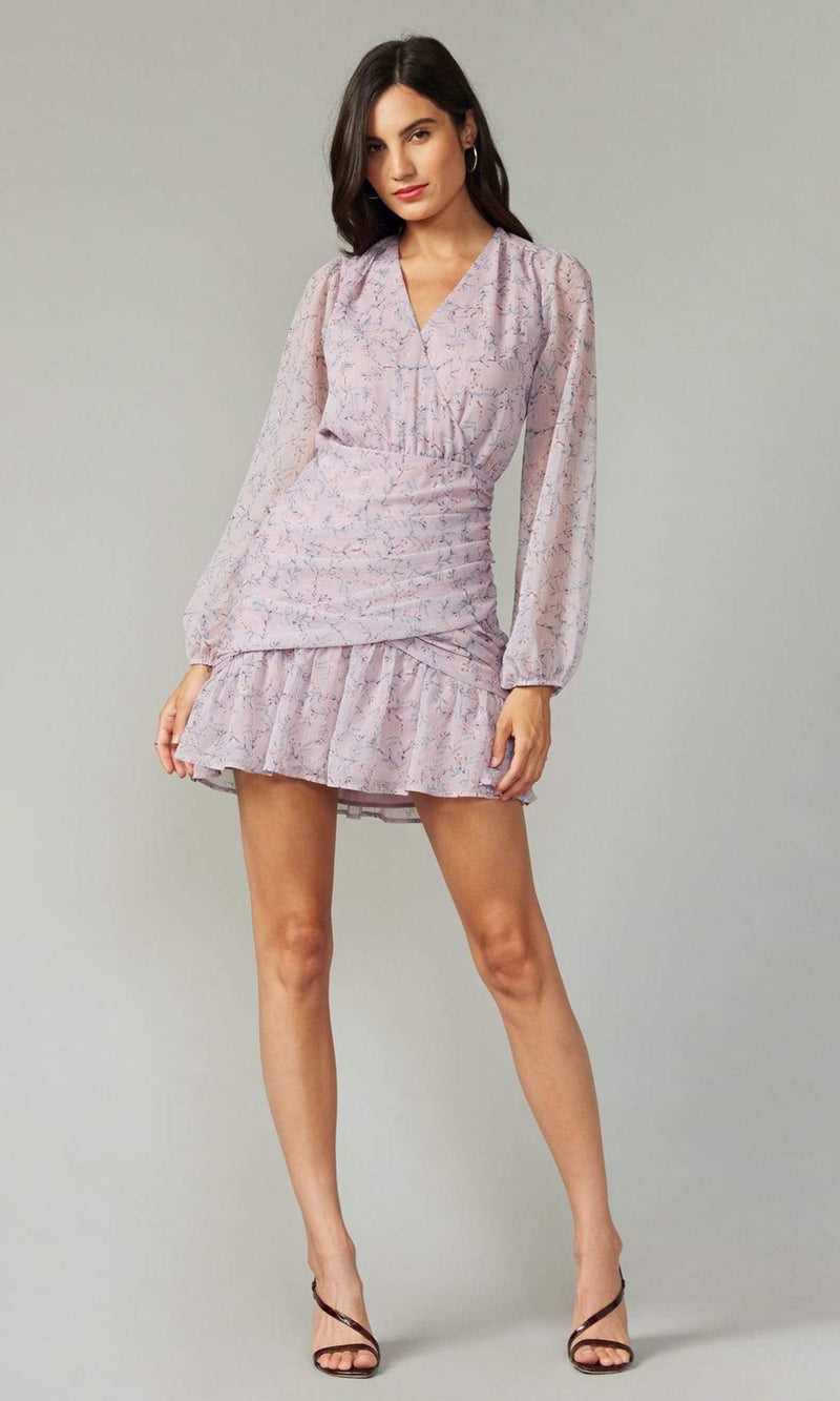 GREYLIN Dress Small / Lilac / G201D3875 Tarama Crinkled Georgette Dress Lilac