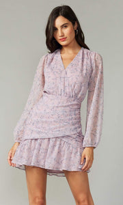 GREYLIN Dress Tarama Crinkled Georgette Dress Lilac