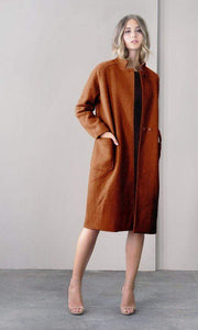 GREYLIN Jacket Rachel Boucle Coat Rust