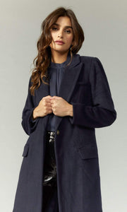 GREYLIN Jacket X Small / Dark Navy / G99J1367 Ona Brushed Slim Coat Dark Navy
