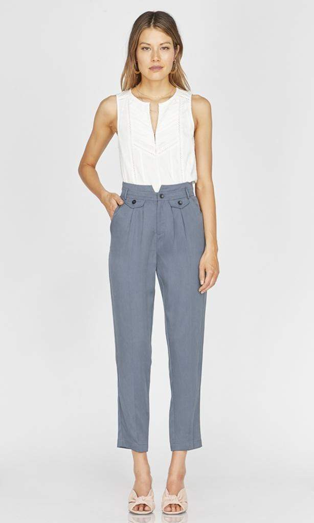 GREYLIN Pants MONIQUE TAPERED TROUSER SEA BLUE