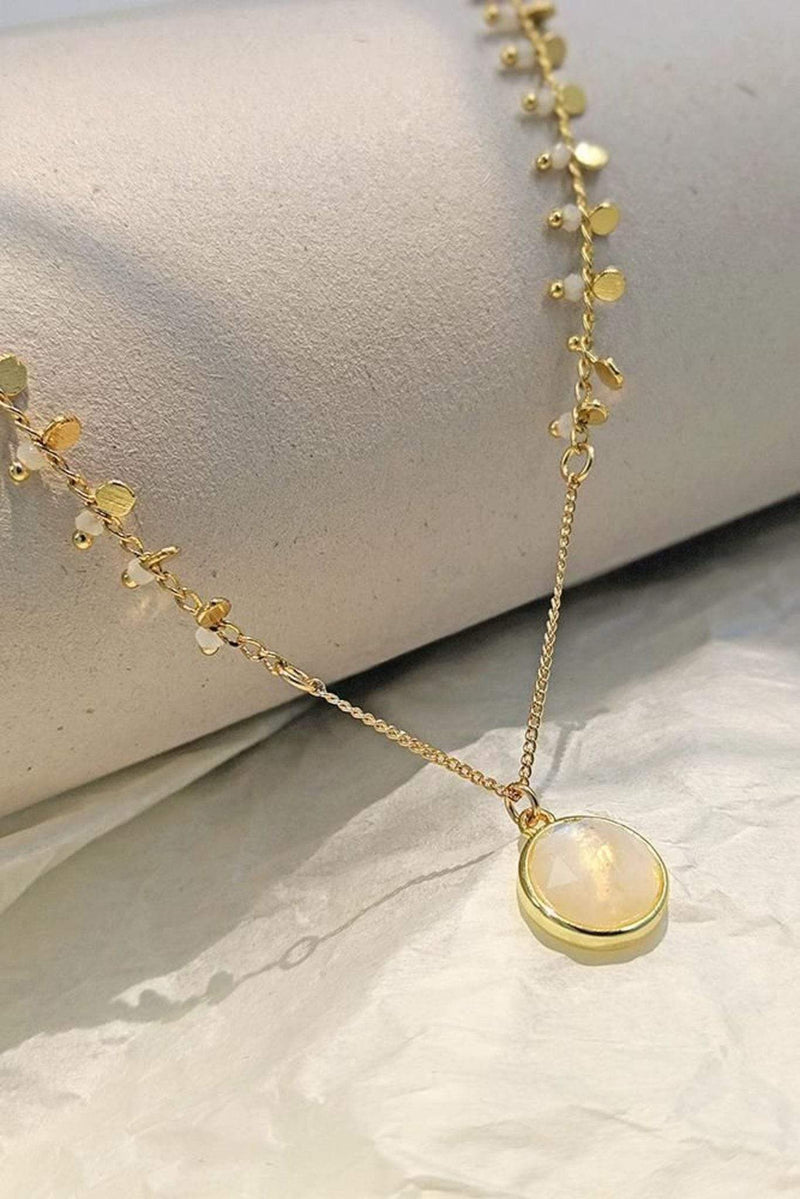 H. Bijoux Necklace One Size / 18k Gold / SS5222-MST Aman Moonstone Necklace 18k Gold