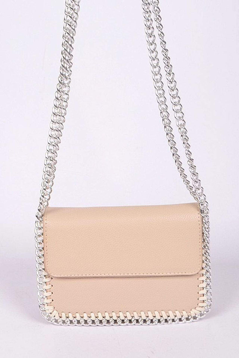 H&D Accessories Bag One Size / Beige / PPC6723BG Carter Chain Clutch Beige