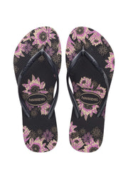 Havaianas Shoes Size 35/36 / Black/Dark Grey/Rose Gold / 4132823 Slim Organic Sandal Black/Dark Grey/Rose Gold