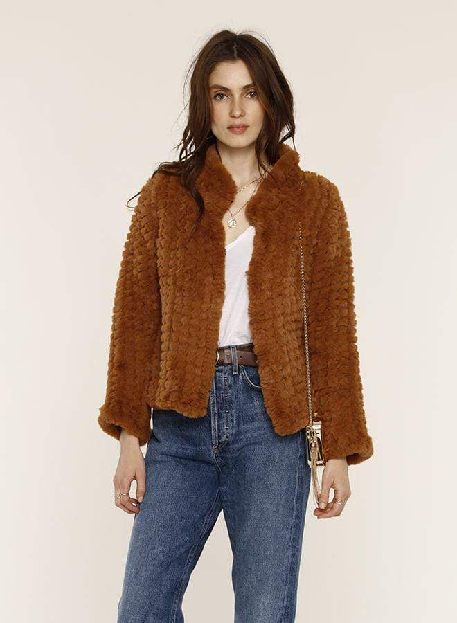 Aria Fur Jacket Cinnamon