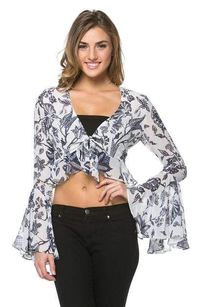 Hommage Tops Blouse Belle Sleeve Top