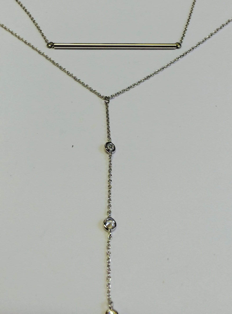 House of jewels Necklace One Size / SILVER Bar and drop Necklace