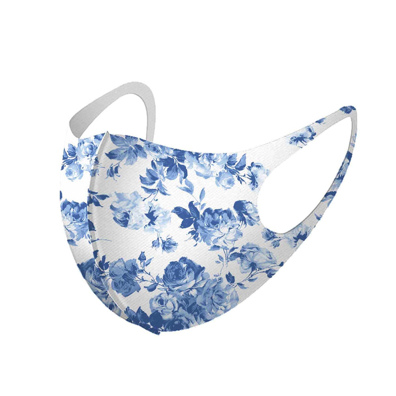 idem ditto Accessories One Size / Blue/White / 11607MK Blue/White Floral Face Mask