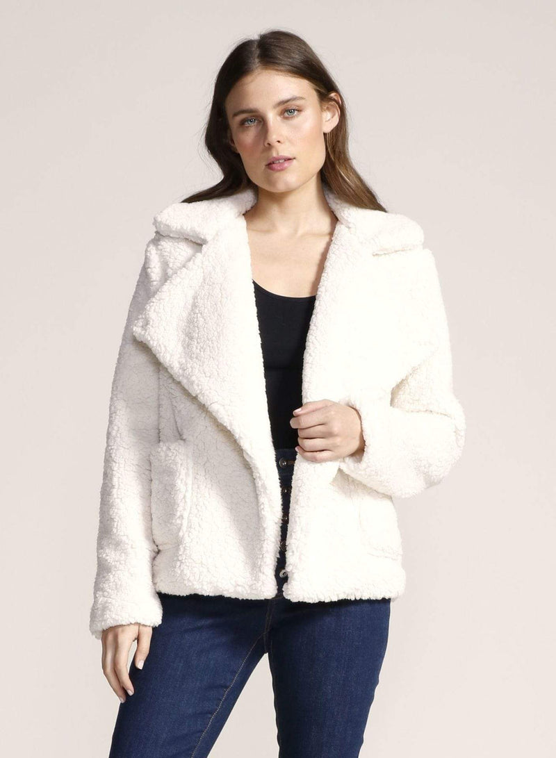 Soft Skills Faux Fur Jacket Ivory