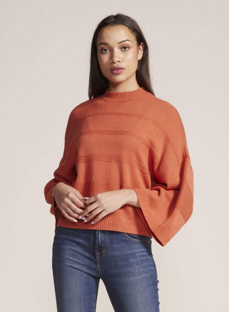Jack / BB Dakota Sweater Medium / Burnt Orange / JJ306582 Tune In Drop Out Mock Neck Sweater Burnt Orange